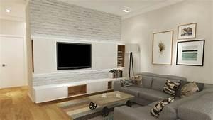 Ideen Tv Wand : wohnideen tv wand ~ Lizthompson.info Haus und Dekorationen