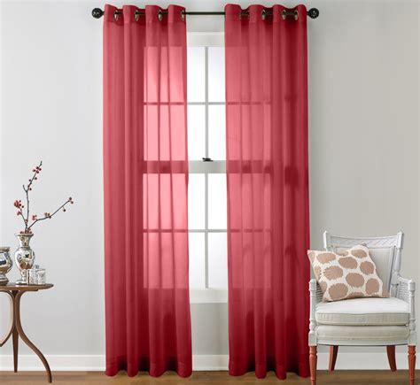 2 Grommet Curtains by 2 Sheer Window Curtain Grommet Panels Ebay