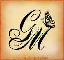 tatuaggi lettere m g farfalla e monogramma gm idea diyartcraft