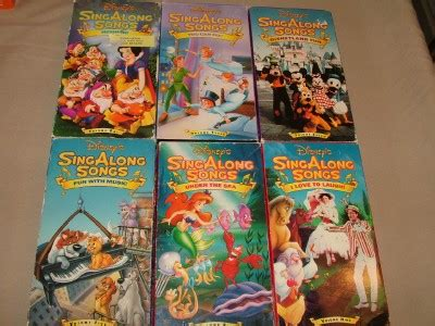 12 childrens disney sing along kidsongs vhs lot happy haunt heigh ho ebay