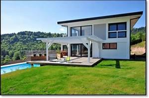 maison moderne avec terrasse aucune chalets maisons bois With terrasse de maison contemporaine