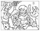 Coloring Nativity Printable sketch template