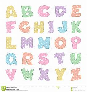 alphabet with pastel polka dots stock vector With pastel letters