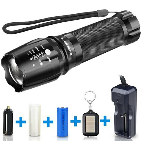 led batterie brand new byb flashlight with battery charger ebay