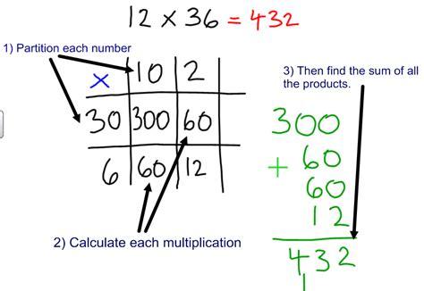 multiplication worksheets using grid method grid method multiplication