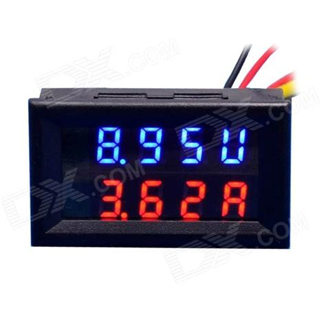 0 28 quot led 4 digital dual display dc ammeter voltmeter 0 100v 10a free shipping dealextreme