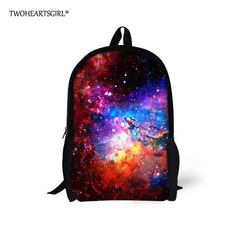 TWOHEARTSGIRL Cosmic Galaxy Designer Children School Bag ...
