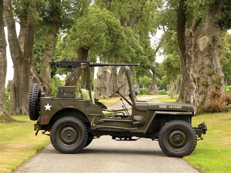 1950 Willys M38 Jeep Truck Trucks Military Retro Weapon