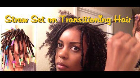 straw set  transitioning hair youtube