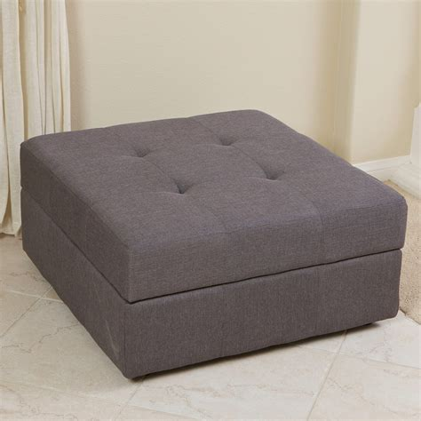 Storage Ottomans Fabric - best selling home decor chatsworth fabric storage ottoman