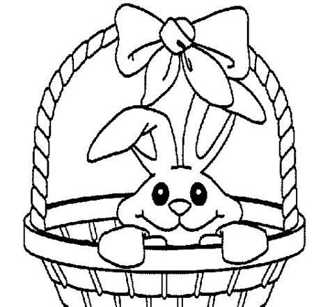 sta e colora disegni di fiori disegno di coniglietto nella cesta da colorare acolore