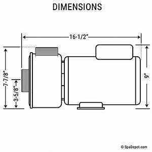 3 Hp Hydromaster Hot Tub Pump  U0026 Motor