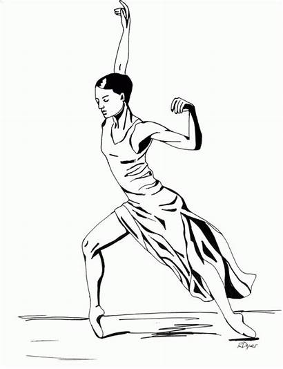 Coloring Jazz Dance Pages Dancers Drawing Dancer
