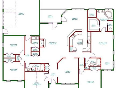 the two story house plans with wrap around porch 4 bedroom ranch house plans 4 bedroom house plans kerala