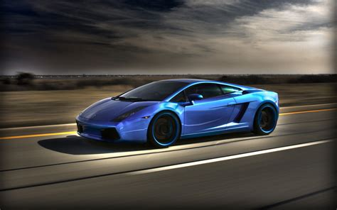 Blue Lamborghini Gallardo Wallpaper