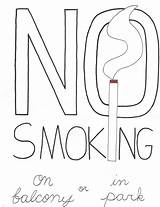 Smoking Coloring sketch template
