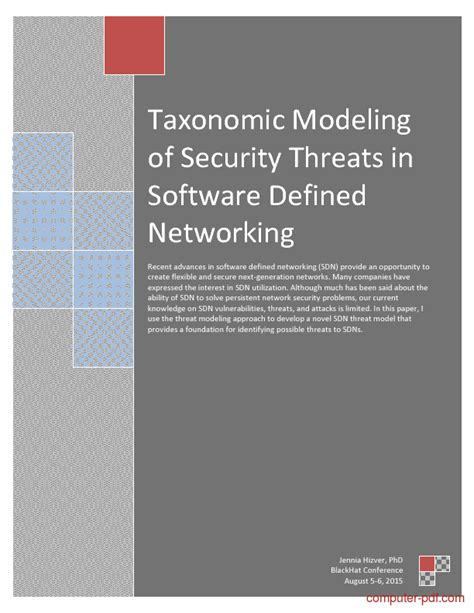 modeling  security threats  sdn  tutorial