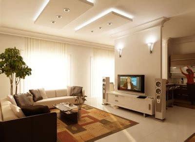contoh desain plafon gypsum atap rumah ruang tamu