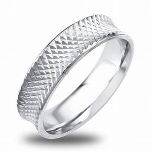 14K 18K White Or Yellow Gold Textured Mens Wedding Band EBay