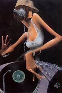 Rosie's Blog: THE FEMALE DJ'S: Art by David Garibaldi