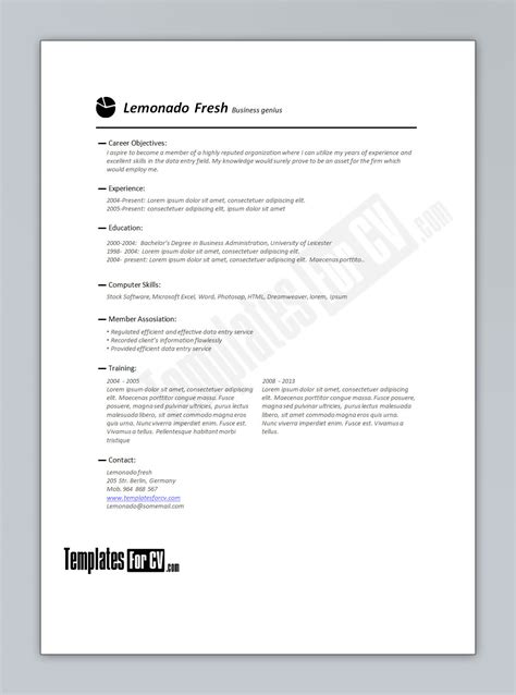 Premade Resume Templates Microsoft Word by Premade Resume Templates Ideas Resume Template Doc