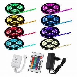 Led Strip Leiste : 500cm 5m led smd licht strip kette leiste rgb 5050 fernbedienung netzteil ebay ~ Watch28wear.com Haus und Dekorationen