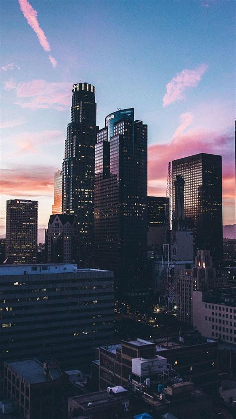 Aesthetic City Wallpaper Iphone by Los Angles Sunset Iphone Wallpaper Wallpaper In 2019