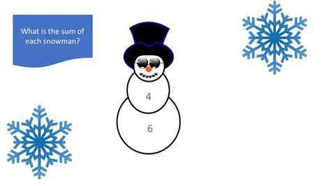 snowman sums worksheet  images winter stem