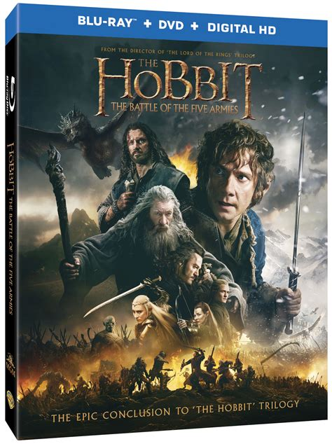 The Hobbit The Battle of the Five Armies DVDBluray