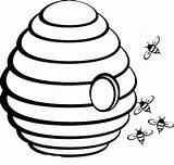 Bee Beehive Coloring Outline Pages Clipart Drawing Hive Sketch Spring Hole Middle Printable Clipartix Honey Clip Drawings Emoji Netart Poop sketch template