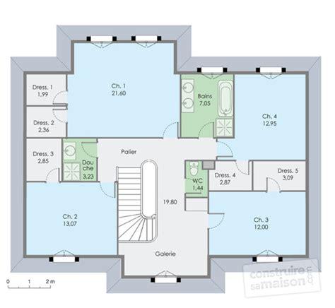 plan maison 3 chambres etage modele maison familiale maisons familiales et modle