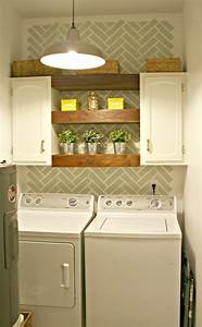 25 small laundry room ideas home stories a to z With kitchen colors with white cabinets with se bike stickers