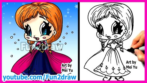 draw disney princesses characters inspired