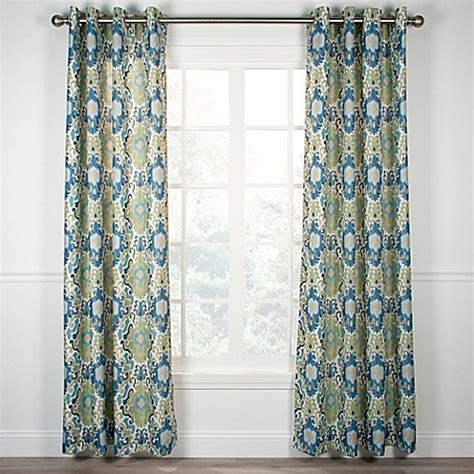 grommet shower curtain tuscany grommet top window curtain panel bed bath beyond