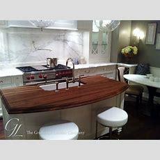 Walnut Wood Countertop Kitchen Island In Chicago