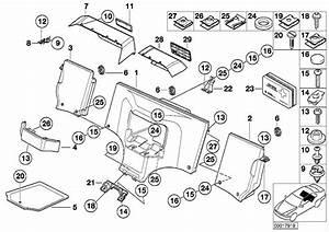 Bmw Z3 Rear Oddments Box  Estorilblau