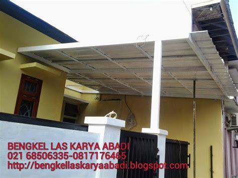 pipa holow galvanis bengkel las karya abadi kanopi minimalis garasi atap