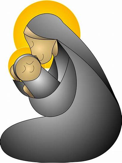 Mother Child Clipart Jesus Christmas Maria Svg