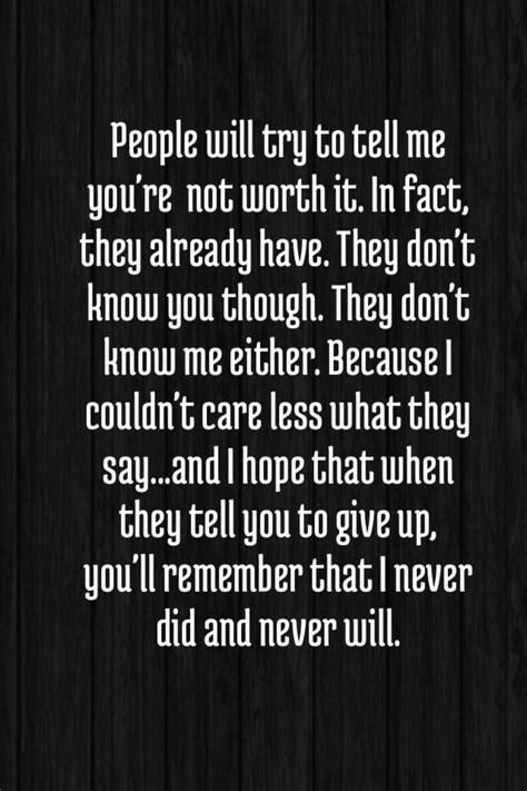 Wont Give Up Love Quotes