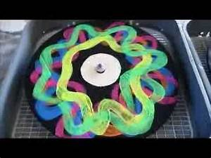 DJ Black Light Neon Turntable Craft Party Records Fun Spin