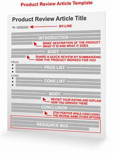 Product review article template for Blogger product review template
