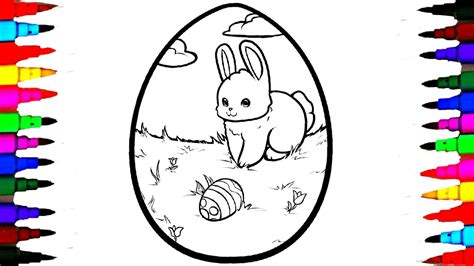 coloring giant easter egg coloring page