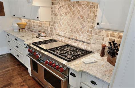 brick veneer backsplash kitchen white springs granite kitchen countertop by atlanta 4896