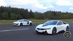 DRAG RACE BMW i8 vs Audi R8 V8