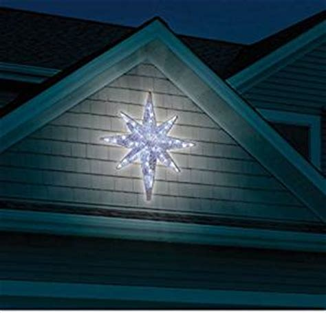 amazon com christmas 4 led lighted star of bethlehem outdoor hanging prop decoration patio