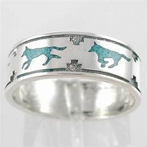Western wedding ring pictures slideshow for Mens turquoise wedding rings