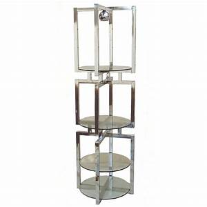 mid century modern chrome glass etagere floor lamp at 1stdibs With etagere wood floor lamp