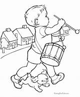 Coloring Pages Kid Books Printable Boy Drums Fair County Dog Az Boys Drum Puppy Playing Drummer Raisingourkids Sheets Cat Embroidery sketch template