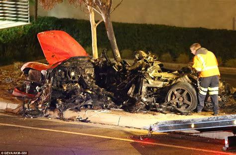 paul walker : Paul Walker car crash