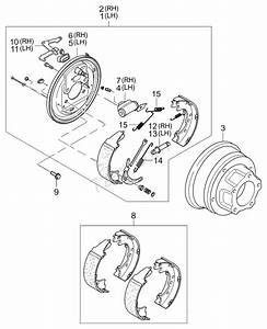 Rear Wheel Brake Kia K2500  K2700 04
